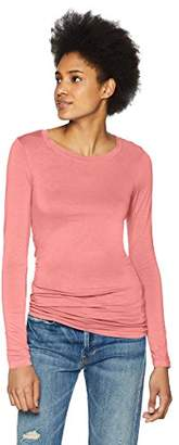 Three Dots Women's Refined Jersey Long Sleeve Short Tight Top