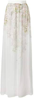 Giambattista Valli floral print sheer skirt