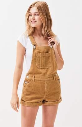 PacSun Butterscotch Overall Shorts