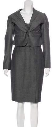 Rene Lezard Wool-Blend Dress Set