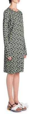 Marni Floral Long-Sleeve Dress