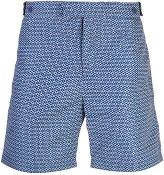 Frescobol Carioca geometric tailored shorts