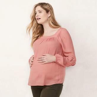 Lauren Conrad Maternity Pintuck Peasant Top
