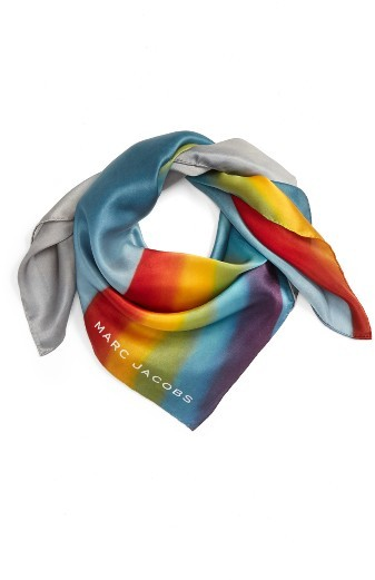 Marc Jacobs Women's Marc Jacobs Rainbow Square Silk Scarf
