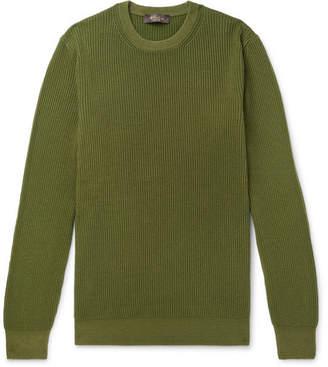 Loro Piana Garment-Dyed Ribbed Cashmere Sweater