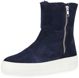 J/Slides Allie Suede High-Top Zip Sneakers