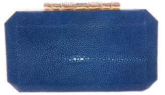 Oscar de la Renta Embellished Stingray Box Clutch