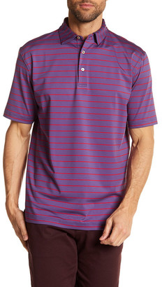 Peter Millar Moisture Wicking Quarter Stripe Stretch Jersey Golf Polo $85 thestylecure.com
