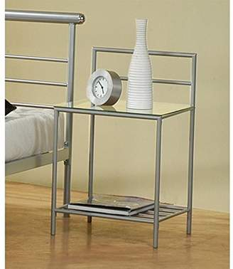Coaster Home Furnishings Contemporary Modern Night Stand Bedside Table, Metal Finish