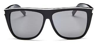 Saint Laurent Women's Flat Top Square Sunglasses, 59mm