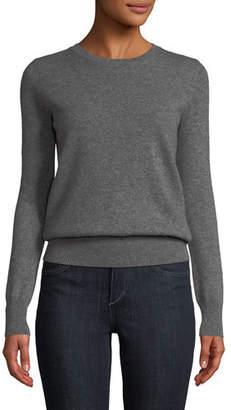 Neiman Marcus Cashmere Crewneck Sweater, Plus Size