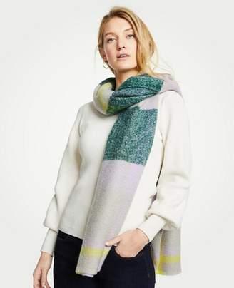 Ann Taylor Brushed Plaid Blanket Scarf