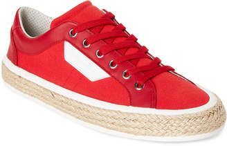 Dolce & Gabbana Red & White Canvas Low-Top Sneakers