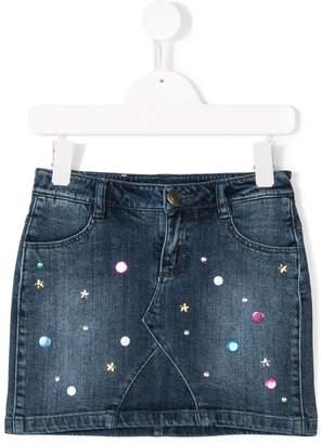 Little Marc Jacobs embellished denim skirt