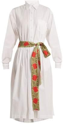 RHODE RESORT Laura point-collar cotton shirtdress