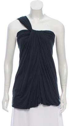 Yigal Azrouel Gathered One-Shoulder Top