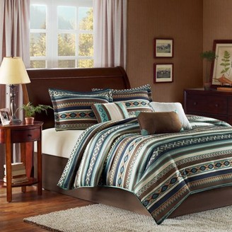 Home Essence Beau 7-Piece Micro Herringbone Bedding Comforter Set