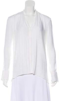 Helmut Lang Long Sleeve Button-Up Blouse