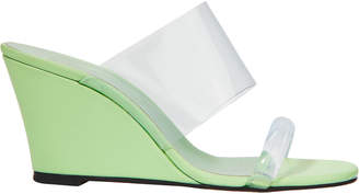 Maryam Nassir Zadeh Olympia Keylime Wedge Sandals