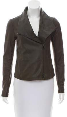 Vince Leather & Wool-Trimmed Jacket