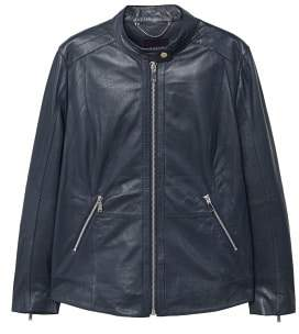 Violeta BY MANGO Leather biker jacket