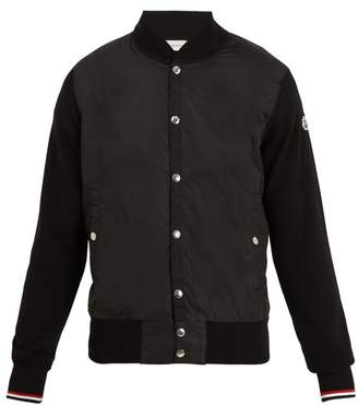 Moncler Contrast Panel Bomber Jacket - Mens - Black