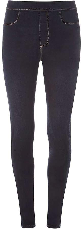 **Tall Blue And Black 'Eden' Ankle Grazer Jeggings