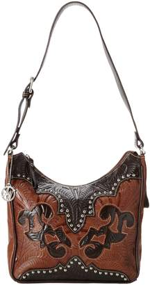 American West Annie's Secret Hobo Bag, Antique Tan/Chocolate