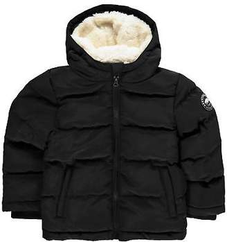 Soul Cal SoulCal Kids 2 Zip Bubble Jacket Junior Padded Coat Top Hooded Insulated Fur
