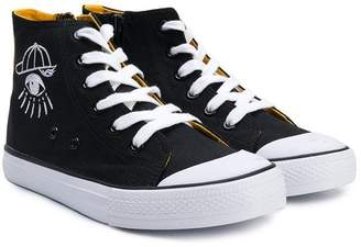 Kenzo high-top canvas sneakers 8caccce271a6