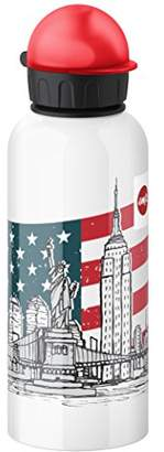 Emsa 514409 Kids drink flask, fruit acid resistant, BPA free, 600 ml, New York
