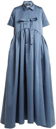 Rochas Bow-embellished duchess-satin gown
