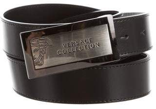 Versace Leather Buckle Belt w/ Tags
