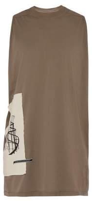 Rick Owens Applique Patch Cotton Jersey Tank Top - Mens - Grey