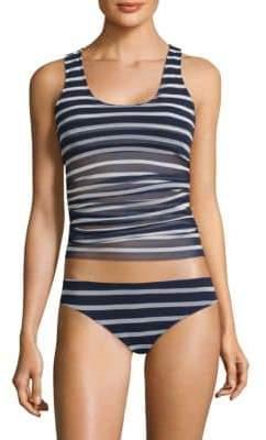 Fuzzi Swim Striped Tankini Top