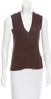 Prada V-Neck Cardigan Vest