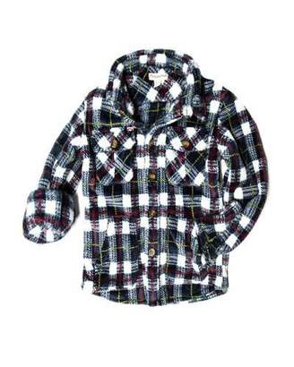 Appaman Snow Fleece Plaid Shirt, Size 2-10
