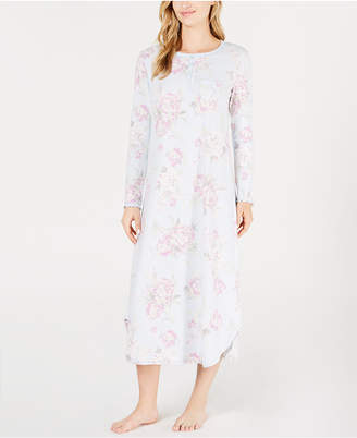 Miss Elaine Printed Knit Nightgown