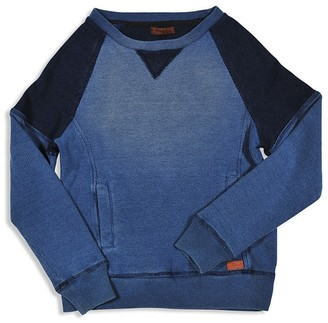 7 For All Mankind Boys' Color-Block Waffle Pullover - Sizes 8-16 $60 thestylecure.com