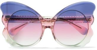 Matthew Williamson - Cat-eye Acetate Sunglasses - Purple