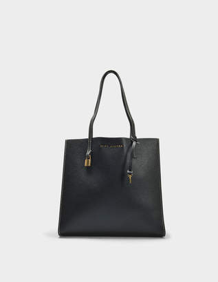 Marc Jacobs The Grind Tote Bag in Black and Gold Cow Leather