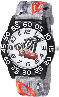 Disney Boy's Cars' Quartz Plastic and Nylon Casual Watch