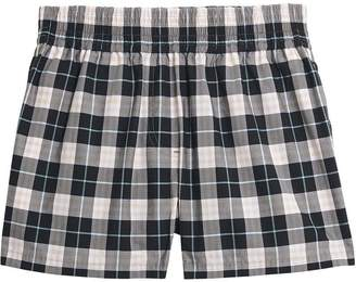 Burberry Check Cotton High-waisted Shorts