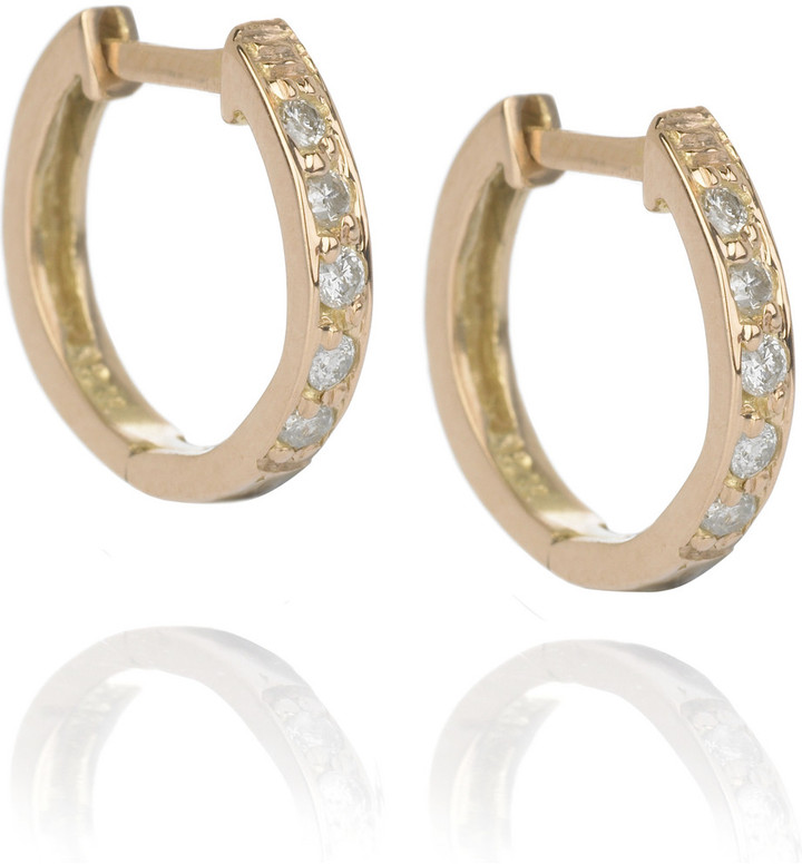 Anita Ko Diamond encrusted huggie earrings