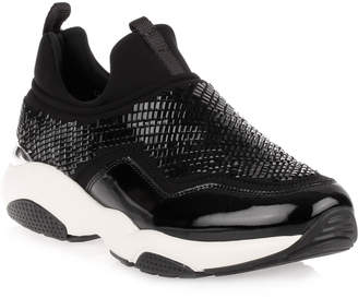 Salvatore Ferragamo Giolly black beaded sneaker