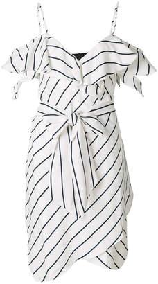 KENDALL + KYLIE Kendall+Kylie pinstriped wrap dress