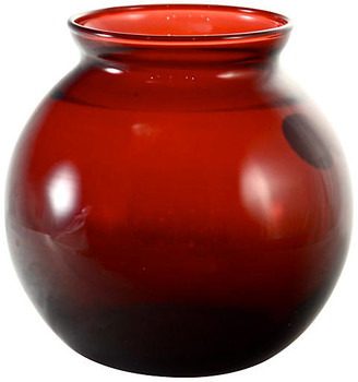 One Kings Lane Vintage Royal Ruby Red Ball Vase - Design Line