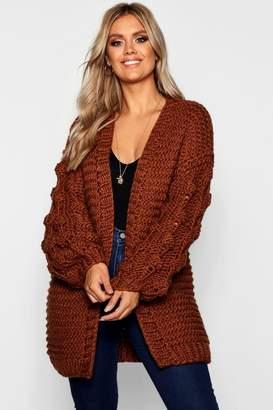 boohoo Plus Oversized Hand Knitted Chunky Cardigan