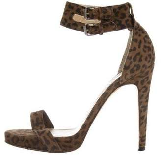 Opening Ceremony Suede Animal Print Sandals