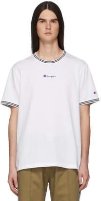 c7cf5d065952 Champion Reverse Weave White Small Script Logo T-Shirt